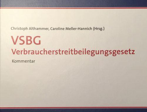 Kommentierung zu § 18 Verbraucherstreitbeilegungsgesetz (VSBG)